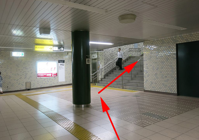 馬喰横山駅下りホームから4