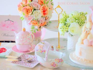 ポーセラーツ・カルトナージュ教室Rose Corail